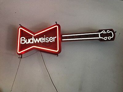 $ CDN1368.57 • Buy Vintage Budweiser Guitar Neon Sign Light Collectible Bar Beer Advertise
