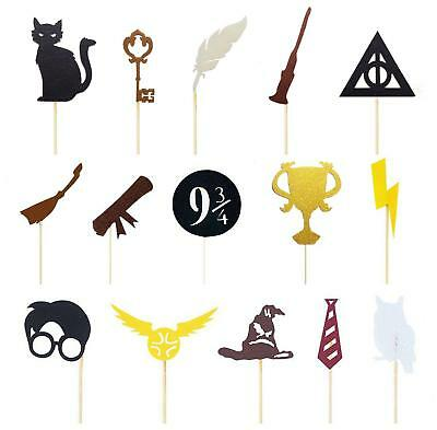 AU8.40 • Buy Harry Potter Cupcake Toppers Decoration 15pcs Or 30pcs Harry Potter Cake Topper