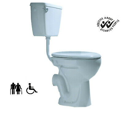Comfort Hight Rised Disabled Doc M LOW LEVEL TOILET PAN WC Soft Seat Cistern • 249£