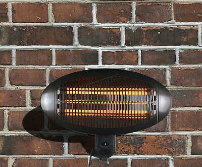 HEATSURE Patio Heater Garden Outdoor Quartz 2KW Electric Wall Mounted Heating • 73.99£