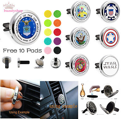 AU2.12 • Buy  Diffuser Essential Oil Car Air Vent Clips Freshener Aromatherapy Locket 10pads