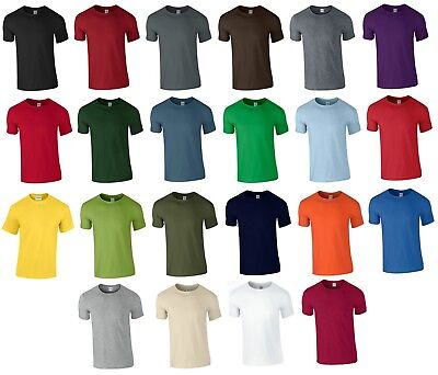 3 Pack Gildan Mens Softstyle Ringspun T Shirt Short Sleeve Plain Cotton Tee Top • 11.49£