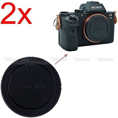 $ CDN4.13 • Buy 2x Body Cover Cap For Sony E-mount Micro SLR Camera A7RII A7II A7R A7S A7 A3000