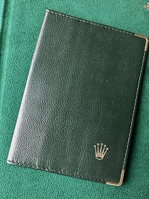 Vintage Rolex Watch Gloss Finish Leather Credit Cards Wallet Old Rolex Accessory • 64.99$