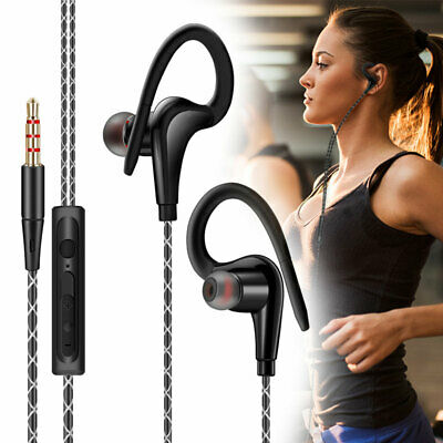 $7.97 • Buy In-Ear Wired Sports Running Earphone Earbuds Over Ear Hook Headphone 3.5mm W/MIC