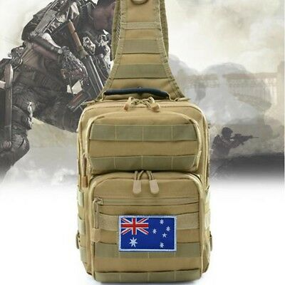 AU20.99 • Buy Men Shoulder Bag Messenger Bags Hamburg Chest Pack Military Tactical Bag Hiking