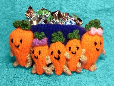 £2.99 • Buy KNITTING PATTERN - Christmas Kevin The Carrot Inspired Sweet Pot -holds Choc