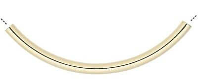 $7.99 • Buy 10 Gold Plated Brass 50x3mm Curved Tube Noodle Beads