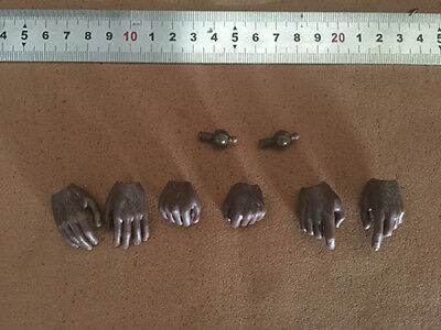 £6.76 • Buy 1 Set 1/6 Scale Black Hand Type Model For 12  Hot Toys HT Body Figure Doll Toy