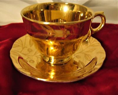 $ CDN42.45 • Buy Rare  Temple Gold  MCM Royal Winton Grimwades England Tea Cup & Saucer Berry