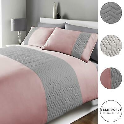 View Details Brentfords Pinsonic Duvet Cover With Pillow Case Bedding Set, From 10.99 • 10.99£
