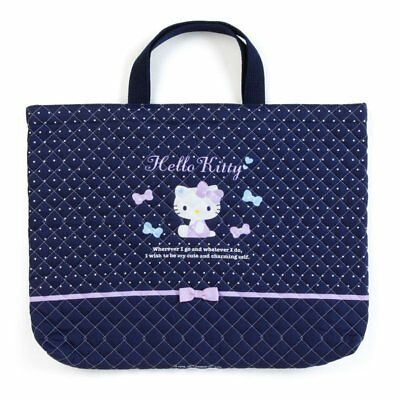c2510aefb Hello Kitty Quilting Mini Tote Bag Dot Navy Sanrio Japan Kids • 27.20$