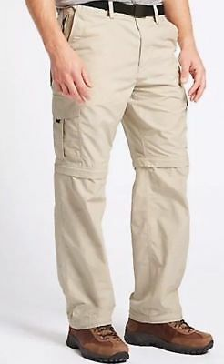 £16.24 • Buy Marks Spencer M&s Trekking Hiking Stone Zip Off Trousers W 46  48  L 29  31  33