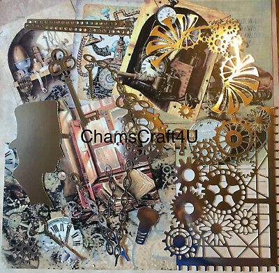 Craft Clearout Mix, Card Toppers / Paper Die Cuts, Bundle Joblot Vintage Mb1 • 4.99£