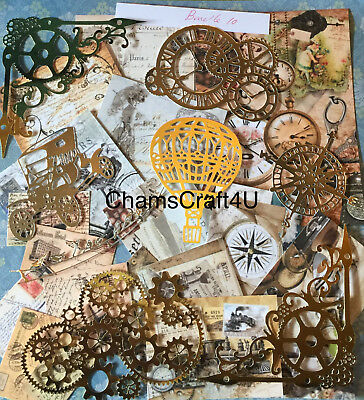 Craft Clearout Mix, Card Toppers / Paper Die Cuts, Bundle Joblot Vintage Bun 10 • 4.99£