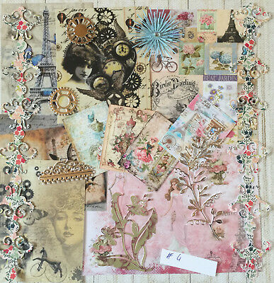 Craft Clearout Mix, Card Toppers / Paper Die Cuts, Bundle Joblot Vintage Bun#4 • 4.99£