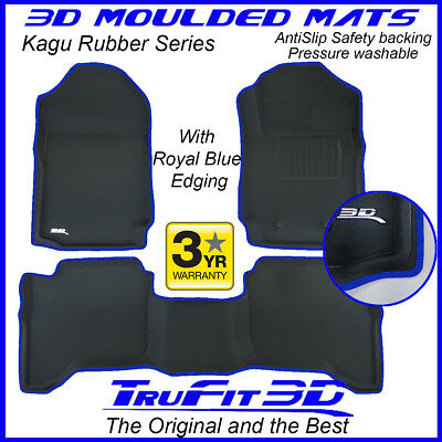 AU189 • Buy Fit Ford Ranger Dual Cab 2011-2020 Genuine 3D Rubber Floor Mat With Blue Edge