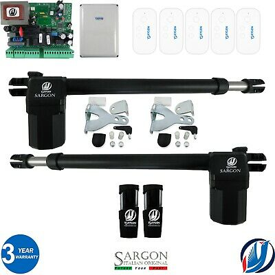 £274.99 • Buy ELECTRIC SWING GATE OPENER COMPLETE KIT 2 MOTORS 5 REMOTES By Oxygen Automation