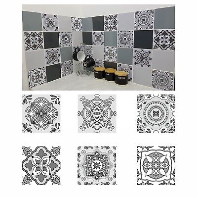 Grey Patterned Mosaic Tile Stickers Transfers For 150mm X 150mm / 6 X 6 Inch G01 • 5.99£