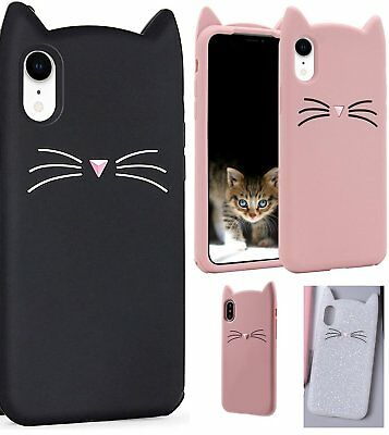 £5.73 • Buy For IPhone XR (6.1 ) - Soft Silicone Rubber Skin Case Cover Cat Ear Whiskers
