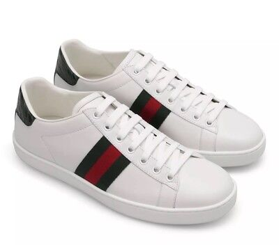 1afaf372b29 NEW GUCCI WOMENS WHITE ACE SNEAKERS SHOES Sz 39 1 2 - 9 1