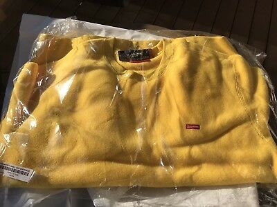 $ CDN293.33 • Buy Supreme FW18 Polartec Small Box Crewneck Yellow BOX LOGO LARGE