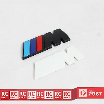 AU8.99 • Buy BMW M-Sport Black Metal Car Rear Side Badge Emblem Sticker M3 M5 M6 E X 1 3 5