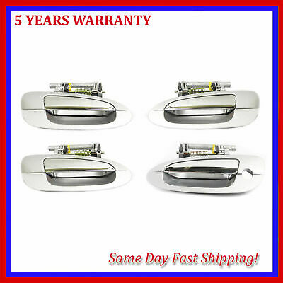 $80.71 • Buy For Nissan Altima 2002-2006 Silver & Chrome MK12 Outer Door Handle 4PCS SET