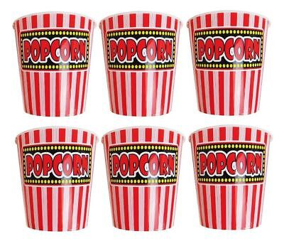 Jumbo Bucket 7  Popcorn Holder Reusable Plastic Tubs Movie Cinema Film Party New • 6.49£
