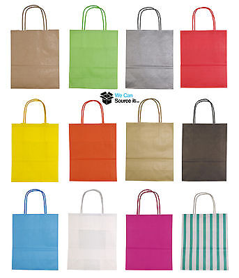 £3.50 • Buy Luxury Party Bags - Kraft Paper Gift Bag - Medium A4 Twisted Handles -Recyclable