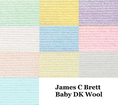 James C Brett Baby DK Knitting Wool Yarn Double Knit Acrylic 100g Ball 10 Shades • 1.75£