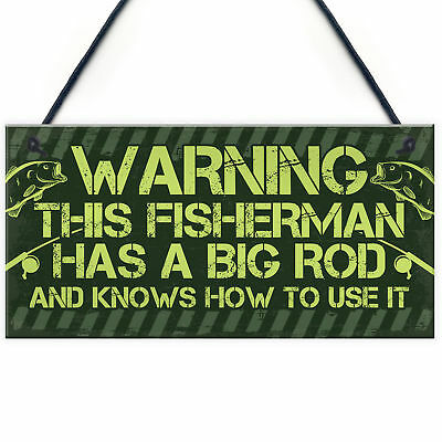 £3.99 • Buy Funny Rude Gifts For Men Fishing Sign Fisherman Birthday Gifts For Dad Husband