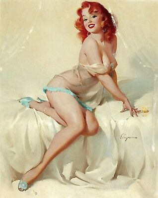 £10.79 • Buy Retro Pin Up Women Girl - Classic Cartoon Wall Art Poster / Canvas Picture Print