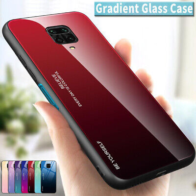 $3.29 • Buy Gradient Tempered Glass Case Cover For Xiaomi Redmi 8 8A 7A 6A Note 8 7 6 5 Pro