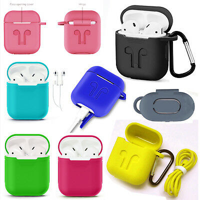 $ CDN5.99 • Buy Silicone Airpods Earphone Protective Case Skin Cover For Apple AirPod IPhone
