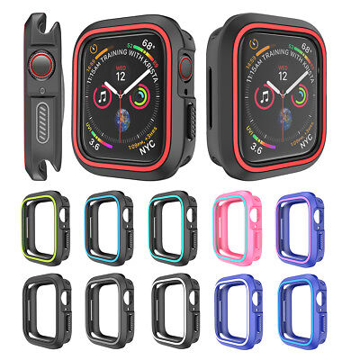 $ CDN3.67 • Buy For Apple Watch Series 4 Silicone TPU Bumper Case Cover IWatch Protector 40/44mm