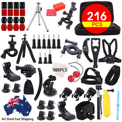 AU11.33 • Buy Accessories Pack Case Chest Head Bike Monopod Float Mount For GoPro Hero 5 4 3 2