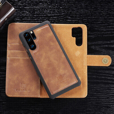For Huawei P30 P20 Pro Lite Removable Genuine Leather Wallet Magnetic Case Cover • 8.75£