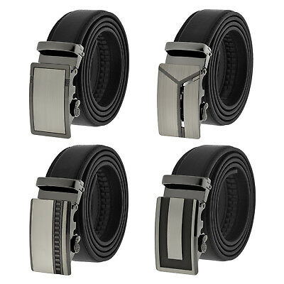 $7.95 • Buy Fashion Genuine Leather Mens Automatic Ratchet Buckle Waist Strap Belts NEW!