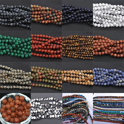 $ CDN0.99 • Buy Natural Gemstone Round Spacer Loose Beads 4MM 6MM 8MM 10MM Assorted Stones