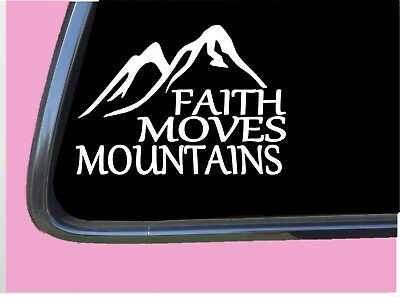 £3.27 • Buy Faith Moves Mountains TP 609 Sticker 6  Decal Jesus God Christian Holy Bible