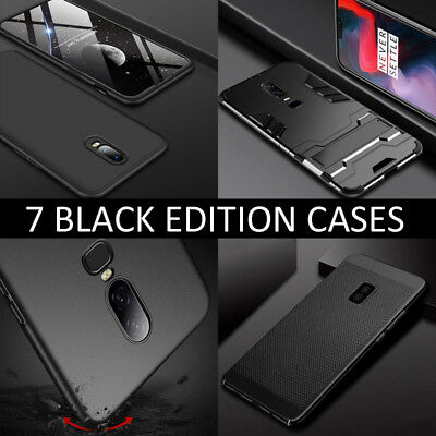AU4.50 • Buy For Oneplus 6T 6 5T 5 3T Jet Black Shockproof Hard Back Luxury Phone Case Cover