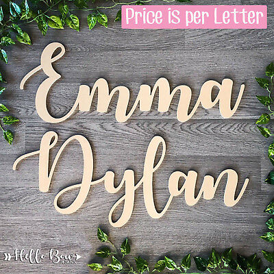 AU1.45 • Buy MDF LETTERS 10cm HIGH Create Custom Cut Words & Names BABY KIDS BEDROOM DECOR