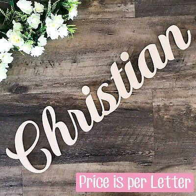 AU4 • Buy WOODEN LETTERS 20cm HIGH Create Personalised Custom Cut Names & Words Home Decor