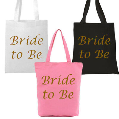 £2.99 • Buy Pink,white,black Gold Bride To Be Tote Bag Hen Party Keepsake Girls Night Out