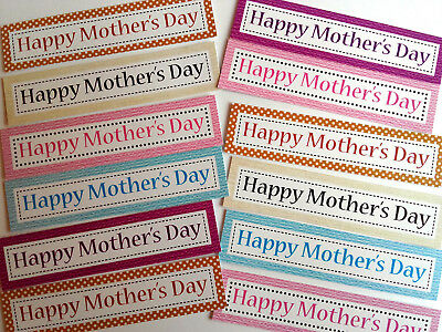 £1.09 • Buy 12 MOTHERS DAY Sentiments/Banners PRETTY COLOURS Hand Made Card Toppers (MDOB2)