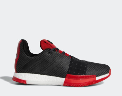 New Adidas Men s Harden Vol 3 Basketball Shoes (AQ0034) Black Grey-Scarlet 7b4f902d6