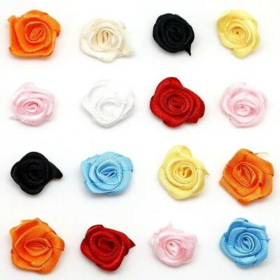 FAST POST 25x 2CM Flower ROSES Sew Glue On COSTUME DANCE Dress Knitting Sewing • 3.99£