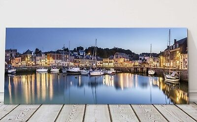 £24.95 • Buy Padstow Harbour At Night Canvas Print Cornwall Framed Picture Art