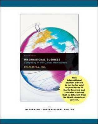 £15.60 • Buy International Business With Online Learning Cent, Hill, Charles W. L., Excellent